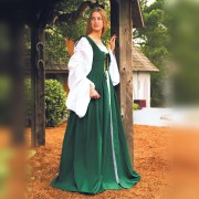Fair Maiden Dress-Green. Windlass