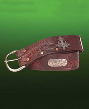 Outlaw wide Leather Belt. Windlass. Marto