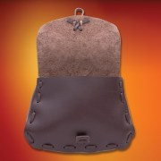 Traveler´s Leather pouch. Windlass. Bolsa Cuero del Viajero. Marto